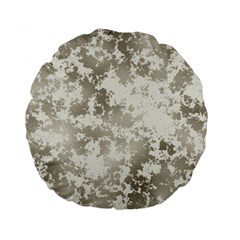 Wall Rock Pattern Structure Dirty Standard 15  Premium Round Cushions