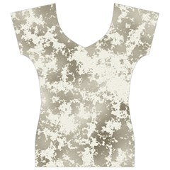 Wall Rock Pattern Structure Dirty Women s V-Neck Cap Sleeve Top