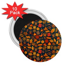 Pattern Background Ethnic Tribal 2 25  Magnets (10 Pack)