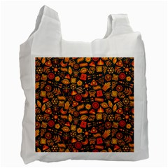 Pattern Background Ethnic Tribal Recycle Bag (One Side)
