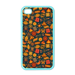 Pattern Background Ethnic Tribal Apple iPhone 4 Case (Color)