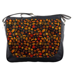 Pattern Background Ethnic Tribal Messenger Bags