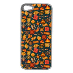 Pattern Background Ethnic Tribal Apple iPhone 5 Case (Silver)