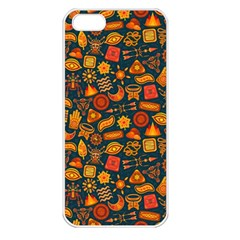 Pattern Background Ethnic Tribal Apple iPhone 5 Seamless Case (White)