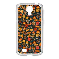 Pattern Background Ethnic Tribal Samsung GALAXY S4 I9500/ I9505 Case (White)