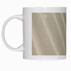 Sand Pattern Wave Texture White Mugs