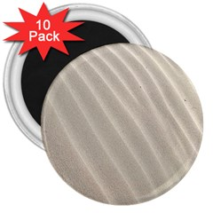 Sand Pattern Wave Texture 3  Magnets (10 pack)