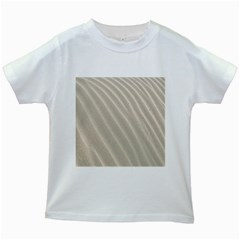 Sand Pattern Wave Texture Kids White T-Shirts
