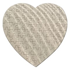Sand Pattern Wave Texture Jigsaw Puzzle (heart)