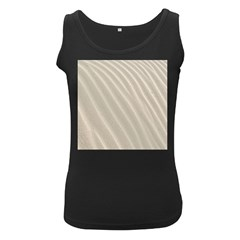 Sand Pattern Wave Texture Women s Black Tank Top