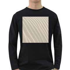 Sand Pattern Wave Texture Long Sleeve Dark T-Shirts