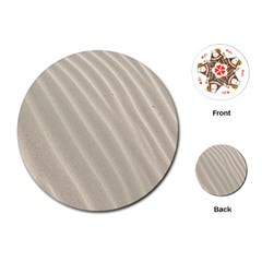 Sand Pattern Wave Texture Playing Cards (Round)