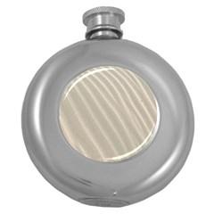 Sand Pattern Wave Texture Round Hip Flask (5 oz)