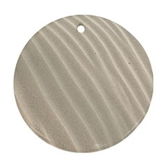 Sand Pattern Wave Texture Round Ornament (two Sides)