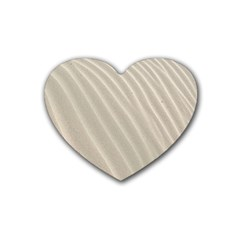 Sand Pattern Wave Texture Heart Coaster (4 Pack)