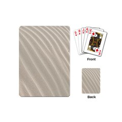 Sand Pattern Wave Texture Playing Cards (mini)