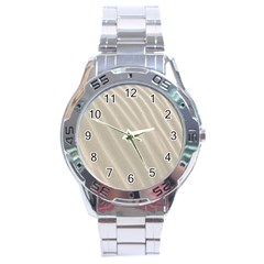 Sand Pattern Wave Texture Stainless Steel Analogue Watch