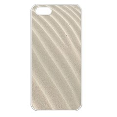 Sand Pattern Wave Texture Apple iPhone 5 Seamless Case (White)