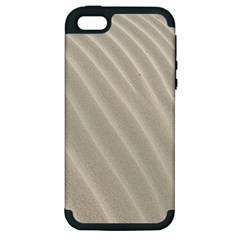 Sand Pattern Wave Texture Apple iPhone 5 Hardshell Case (PC+Silicone)