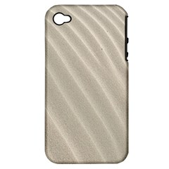 Sand Pattern Wave Texture Apple iPhone 4/4S Hardshell Case (PC+Silicone)