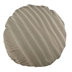 Sand Pattern Wave Texture Large 18  Premium Round Cushions