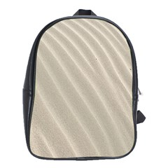 Sand Pattern Wave Texture School Bags (XL)