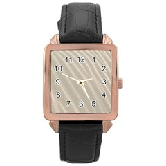 Sand Pattern Wave Texture Rose Gold Leather Watch