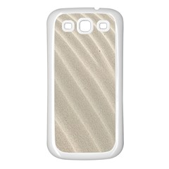 Sand Pattern Wave Texture Samsung Galaxy S3 Back Case (White)