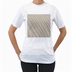 Sand Pattern Wave Texture Women s T-Shirt (White)