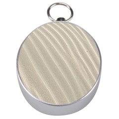 Sand Pattern Wave Texture Silver Compasses