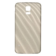 Sand Pattern Wave Texture Samsung Galaxy S5 Back Case (White)