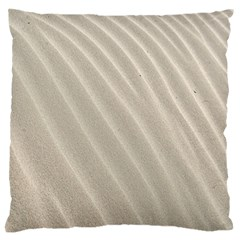 Sand Pattern Wave Texture Large Flano Cushion Case (one Side)