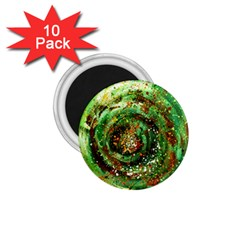 Canvas Acrylic Design Color 1 75  Magnets (10 Pack)