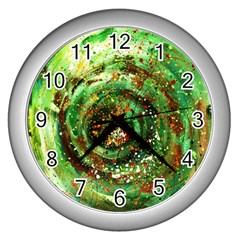 Canvas Acrylic Design Color Wall Clocks (Silver)