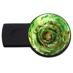 Canvas Acrylic Design Color USB Flash Drive Round (1 GB)