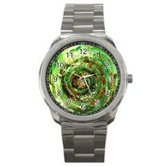 Canvas Acrylic Design Color Sport Metal Watch