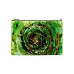 Canvas Acrylic Design Color Cosmetic Bag (medium)