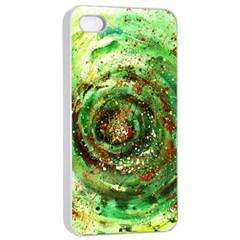 Canvas Acrylic Design Color Apple iPhone 4/4s Seamless Case (White)