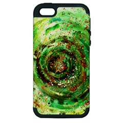 Canvas Acrylic Design Color Apple iPhone 5 Hardshell Case (PC+Silicone)