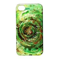Canvas Acrylic Design Color Apple iPhone 4/4S Hardshell Case with Stand