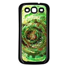 Canvas Acrylic Design Color Samsung Galaxy S3 Back Case (Black)
