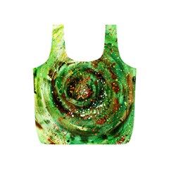 Canvas Acrylic Design Color Full Print Recycle Bags (S)