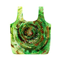 Canvas Acrylic Design Color Full Print Recycle Bags (m)