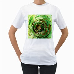 Canvas Acrylic Design Color Women s T-Shirt (White)