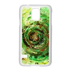 Canvas Acrylic Design Color Samsung Galaxy S5 Case (White)