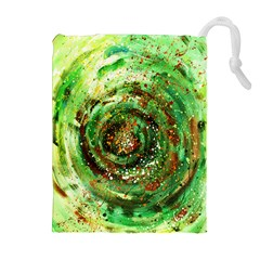 Canvas Acrylic Design Color Drawstring Pouches (Extra Large)