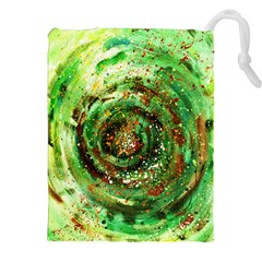 Canvas Acrylic Design Color Drawstring Pouches (xxl)