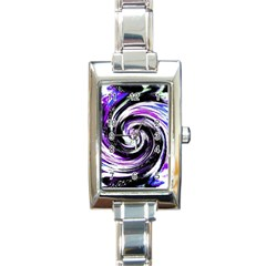 Canvas Acrylic Digital Design Rectangle Italian Charm Watch