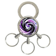 Canvas Acrylic Digital Design 3-Ring Key Chains