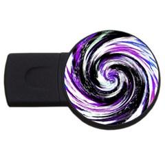 Canvas Acrylic Digital Design USB Flash Drive Round (1 GB)